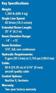 AC3307 - Auto Crane HC-6 Nexstar Specifications