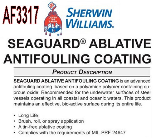 AF3317 - SEAGUARD ABLATIVE ANTIFOULING COATING