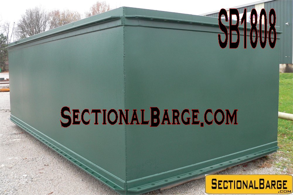 SB1808 – NEW 20′ x 10′ x 7′ SECTIONAL BARGE