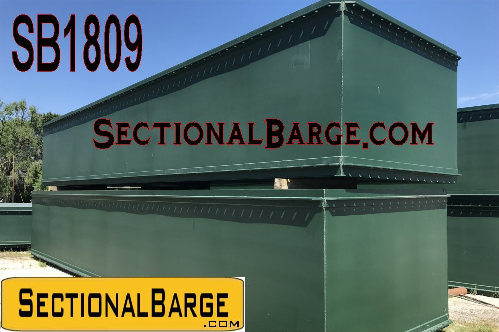 SB1809 – NEW 40′ x 10′ x 7′ SECTIONAL BARGE