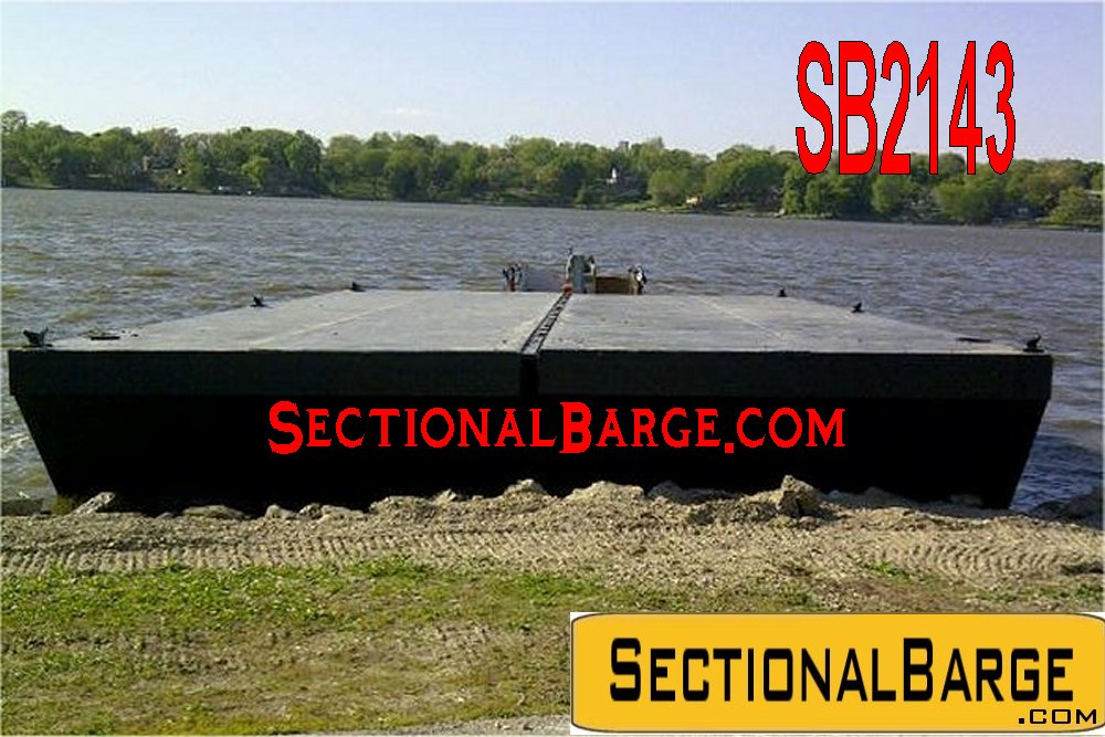 SB2143 – 48′ x 24′ x 4'SECTIONAL SPUD BARGE