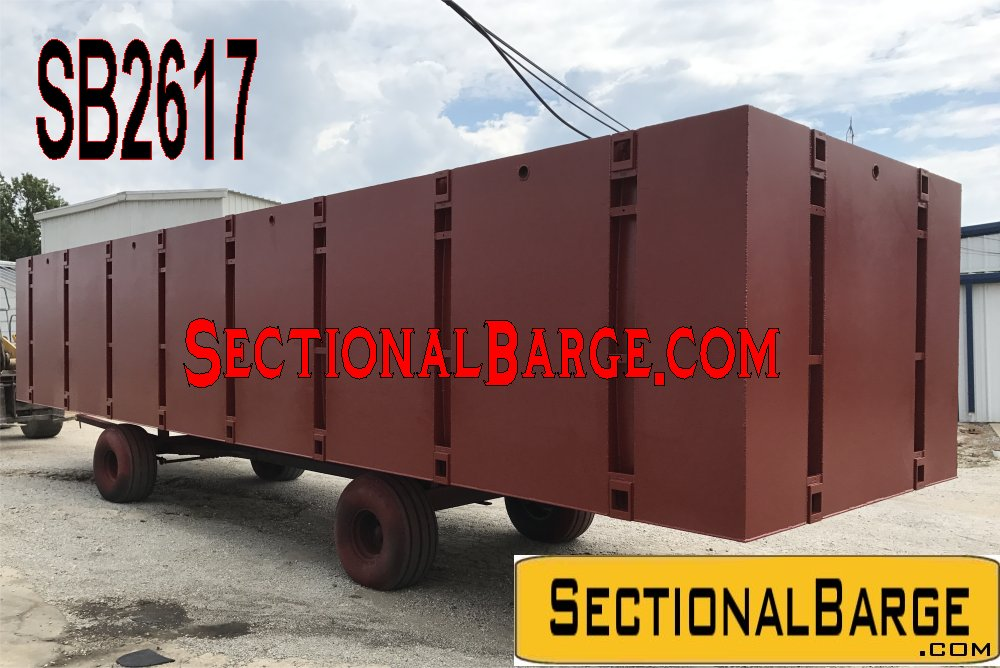 SB2617 - 40' x 10' x 7' SECTIONAL BARGES
