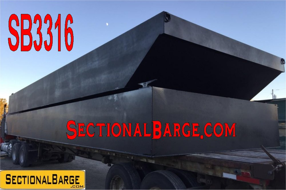 SB3316 – 36′ x 24′ x 3′ – 3′ HULL SECTIONAL SPUD BARGE