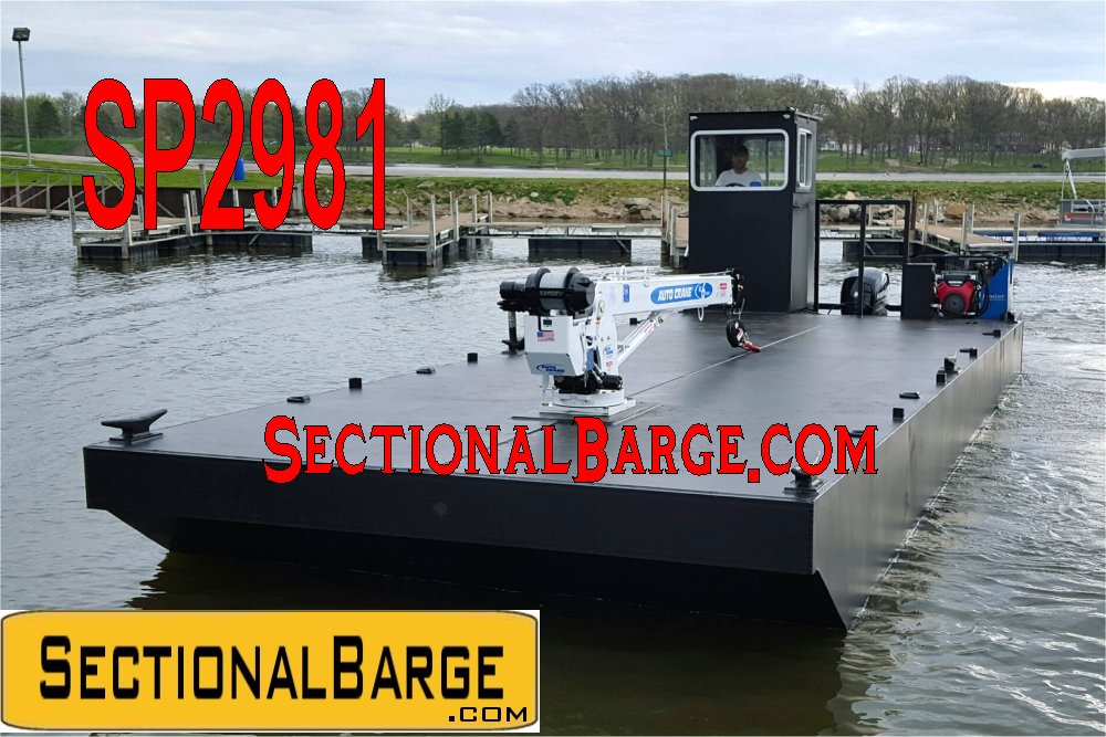 SP2981 - 30' WORK BOAT W/ AUTO CRANE