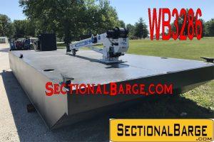 WB3286 - 115 HP WORK BOAT W/ AUTO CRANE