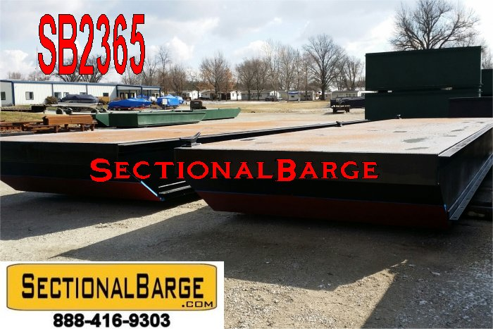 SB2365 – 40′ x 30′ x 3′ SECTIONAL SPUD BARGE