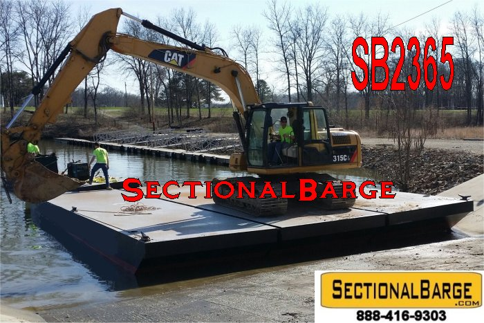 SB2365B - 40' x 30' x 3' SECTIONAL SPUD BARGE