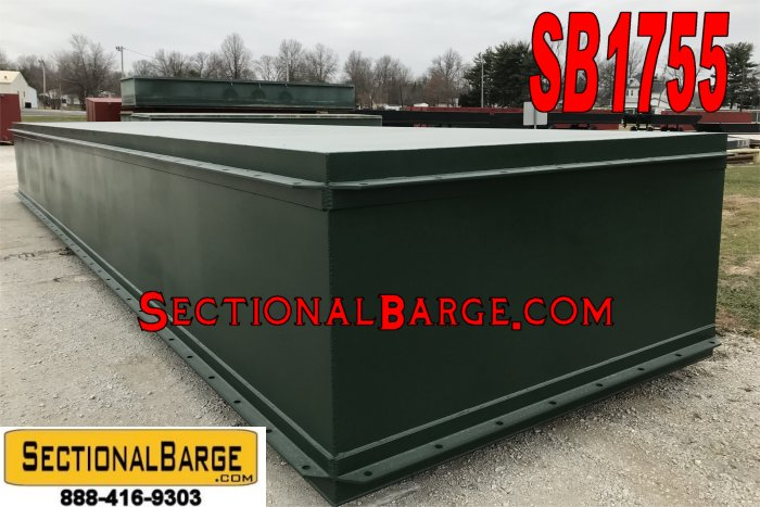SB1755 - NEW 40' x 10' x 5' SECTIONAL BARGE