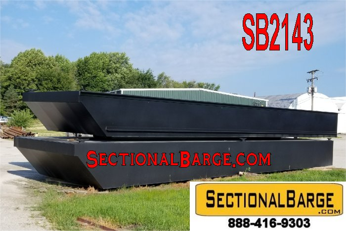 SB2143-B - NEW 48' x 24' x 4' SECTIONAL SPUD BARGE