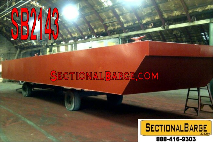 SB2143-C - NEW 48' x 24' x 4' SECTIONAL SPUD BARGE