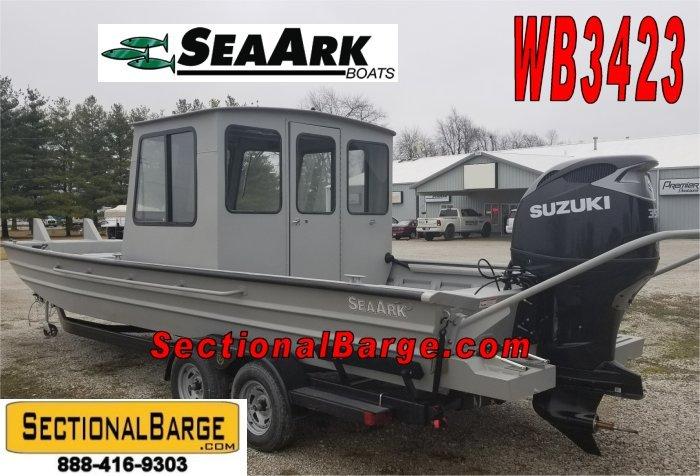 WB3423-D - 350 HP SeaArk WORK BOAT