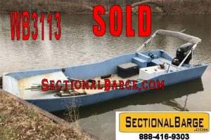WB3113 – 200 HP WORK BOAT WITH TRAILER – USED