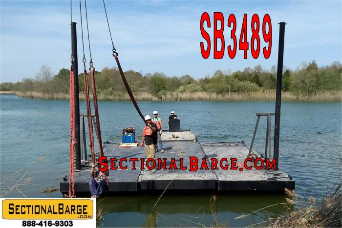SB3489 – NEW 30′ x 24′ x 3′ SECTIONAL SPUD BARGE