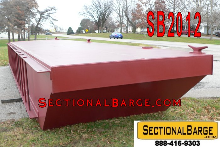 SB2012 – 36′ x 16′ x 4′ SECTIONAL SPUD BARGE