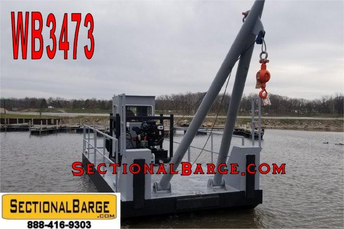 WB3473 - 25' x 10' x 3' A-FRAME WORK BOAT