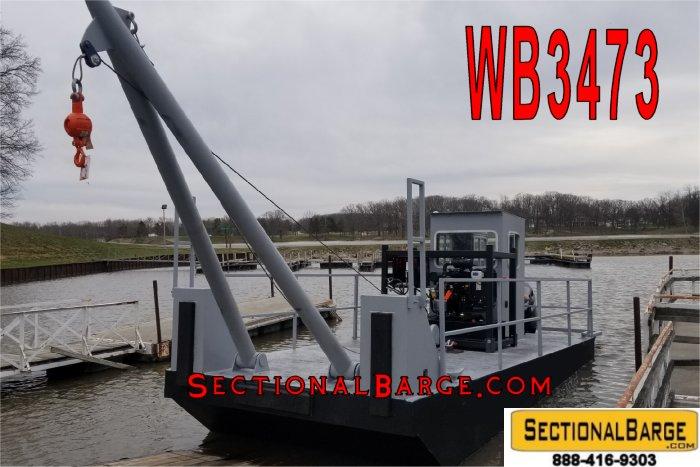 WB3473 – 25′ x 10′ x 3′ A-FRAME WORK BOAT