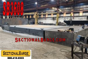 SB3608 - USED 38' x 24' x 3' SECTIONAL SPUD BARGE