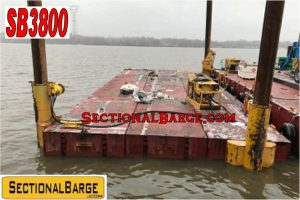 SB3800 – 80′ x 30′ x 5′ FLEXIFLOAT® SECTIONAL BARGE