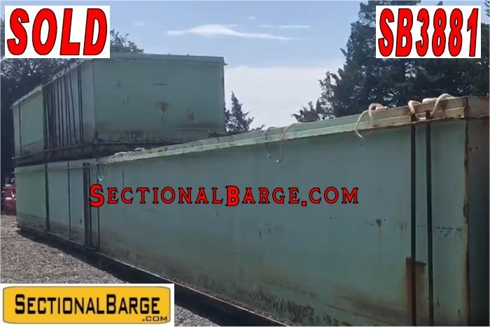 SB3881 – USED 7′ SHUGART SECTIONAL BARGES