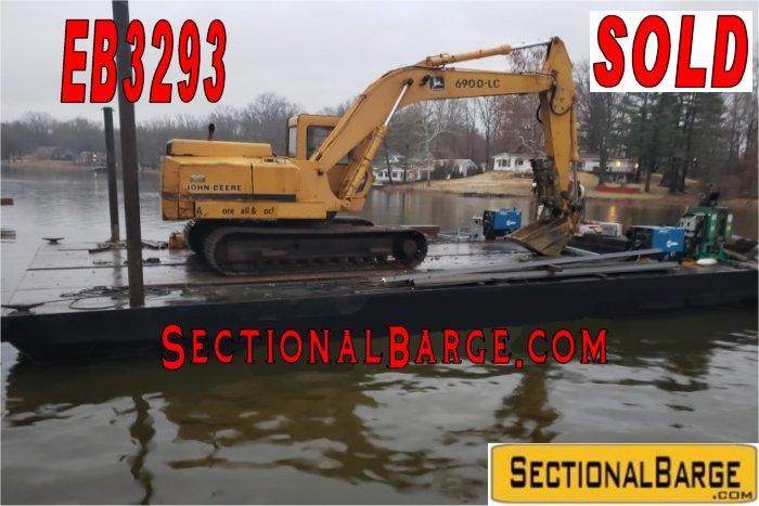 EB3293 – JOHN DEERE EXCAVATOR BARGE – SOLD