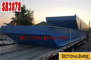 SB3878 - 35' x 16' x 3' SECTIONAL SPUD BARGE