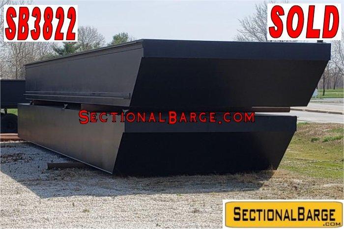 SB3822 – 60′ x 24′ x 4′ SECTIONAL SPUD BARGE