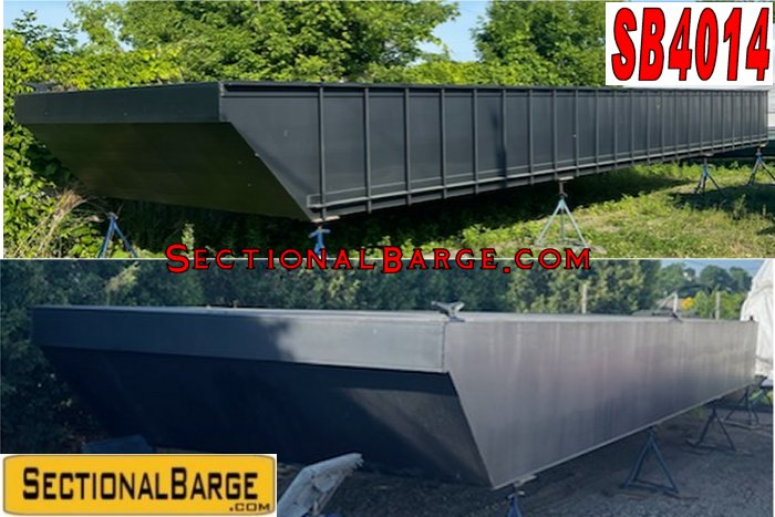 SB4014 - NEW 48' x 24' x 4' SECTIONAL SPUD BARGE