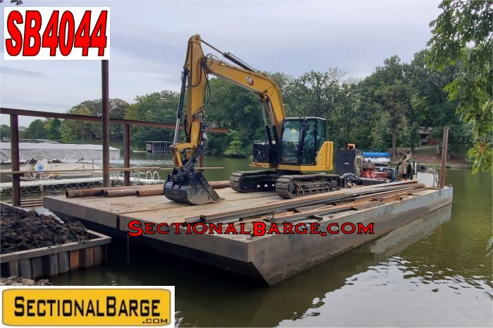 SB4044 – SECTIONAL SPUD BARGE W/ WORK BOAT